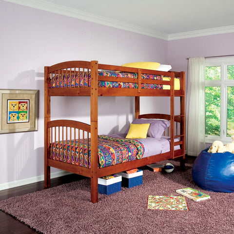 CR Twin over Twin Bunk Bed in Oak