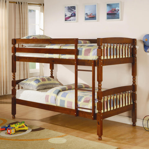 CR Twin over Twin Bunk Bed in Pine