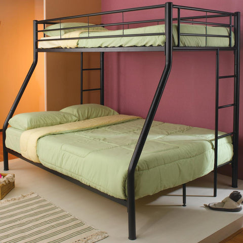 Denley Metal Twin over Full Bunk Bed in Black