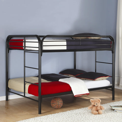 Fordham Full Over Full Bunk Bed in Black