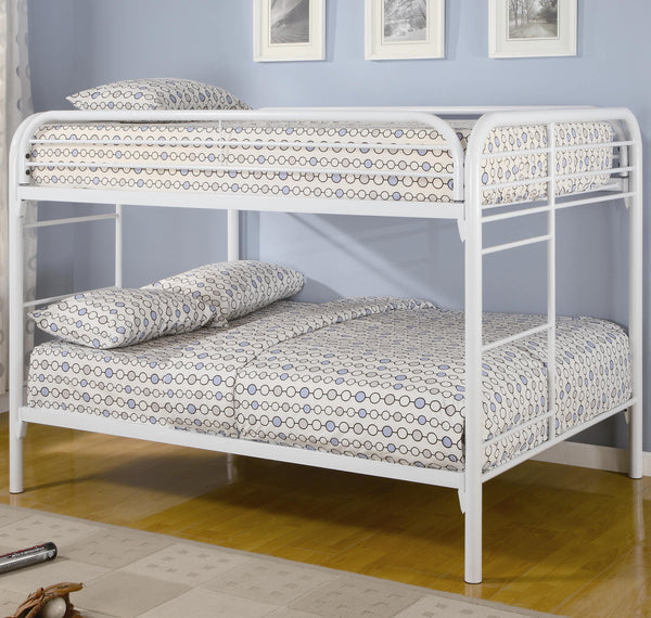 Fordham Full Over Full Bunk Bed in White
