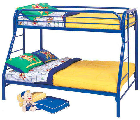 Fordham Twin Over Full Bunk Bed in Blue