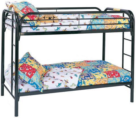 Fordham Twin Over Twin Bunk Bed in Black