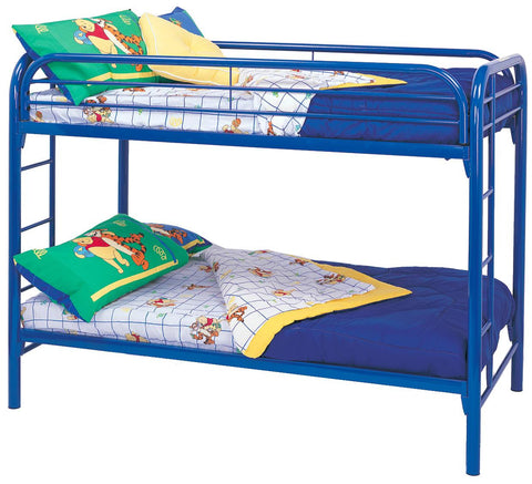 Fordham Twin Over Twin Bunk Bed in Blue