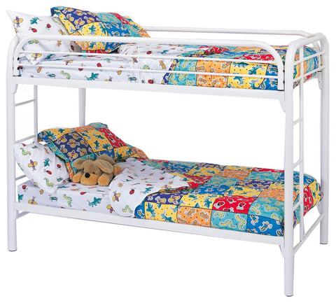 Fordham Twin Over Twin Bunk Bed in White