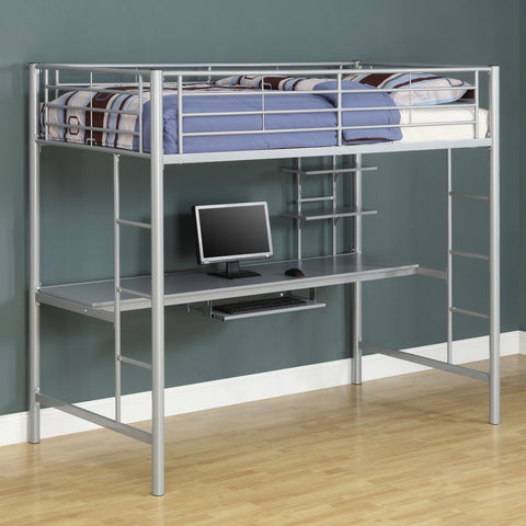 WE Twin Metal Workstation Loft in Silver