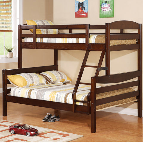 WE Twin over Full Bunk Bed in Walnut