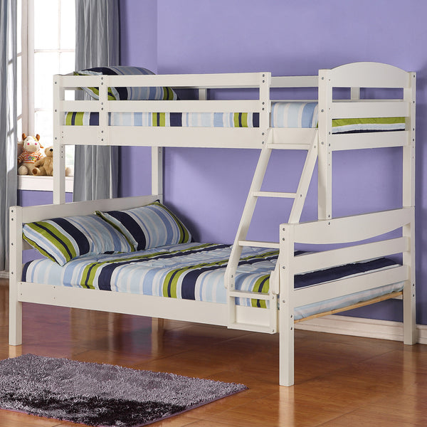 WE Twin over Full Bunk Bed in White