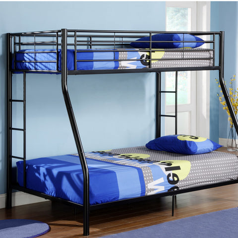WE Twin over Full Metal Bunk Bed in Black