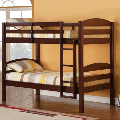 WE Twin over Twin Bunk Bed in Espresso