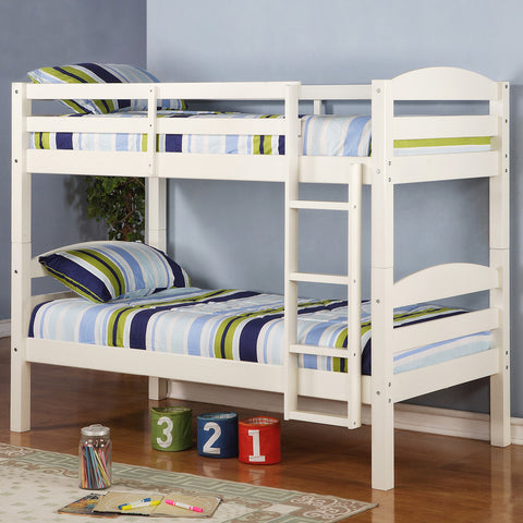 WE Twin over Twin Bunk Bed in White