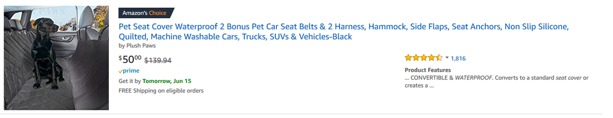 We Got an Amazon's Choice Badge!