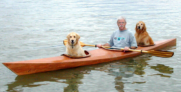 Man Builds a Kayak for His Dogs
