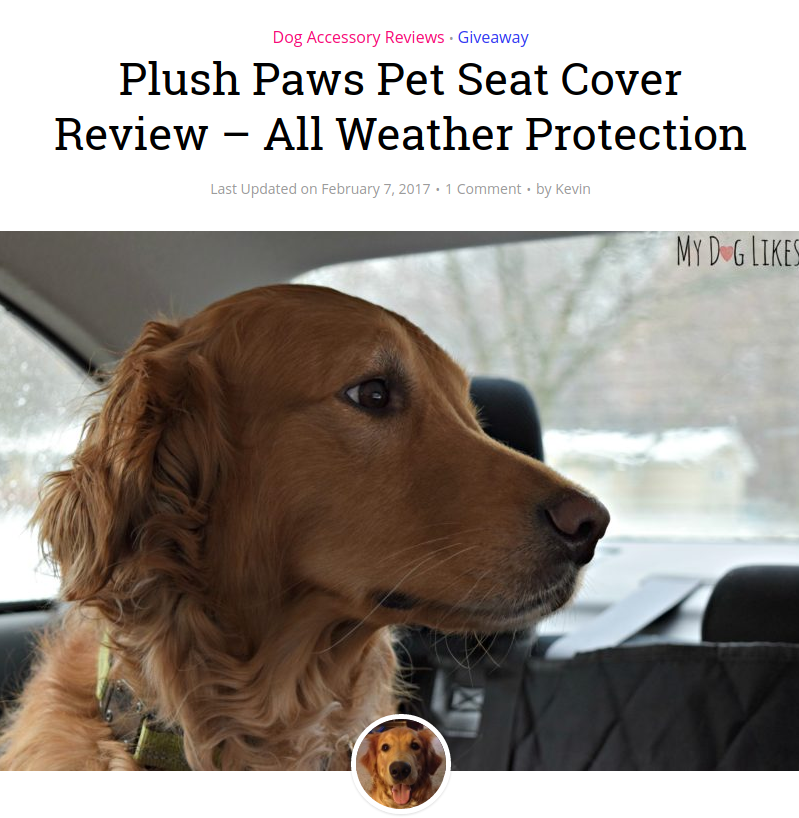 Check Out What MyDogLikes.com Says About Our Pet Seat Cover