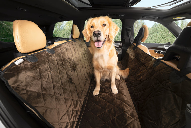 Plush Paws Luxury Velvet Rear Pet Seat Cover