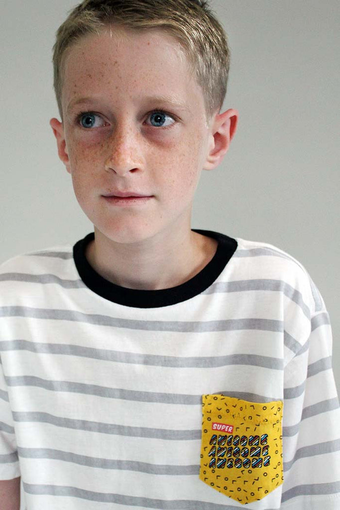 Awesome Chest Pocket Tee - Bam Kids