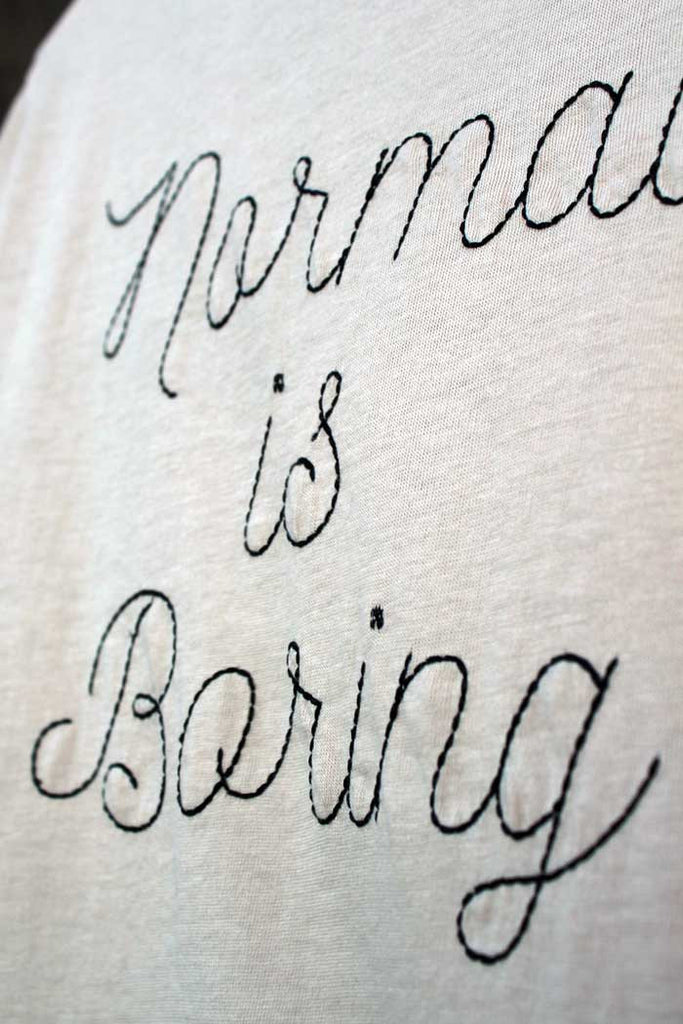 Normal Is Boring Vintage Ringer Tee - Bam Kids