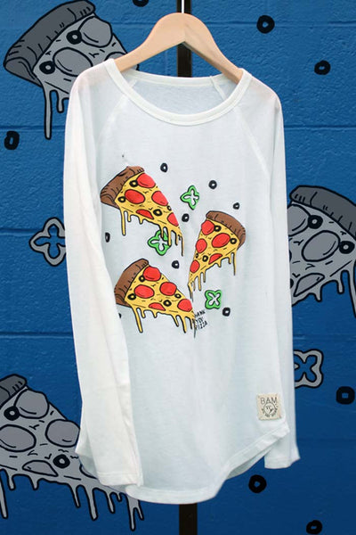 Drippy Pizza Raglan Tee - Bam Kids