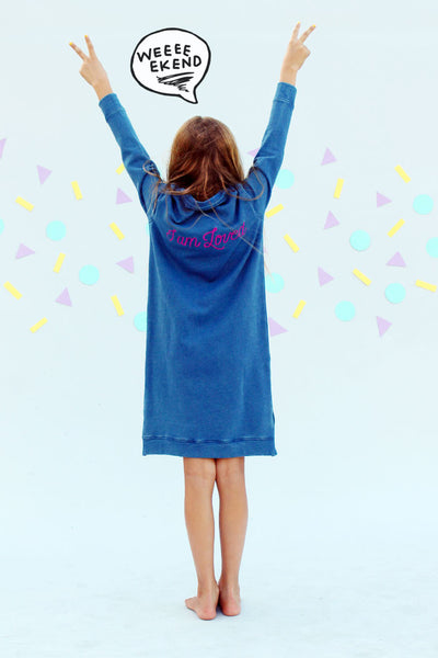 I Am Loved Sweat Dress - Bam Kids