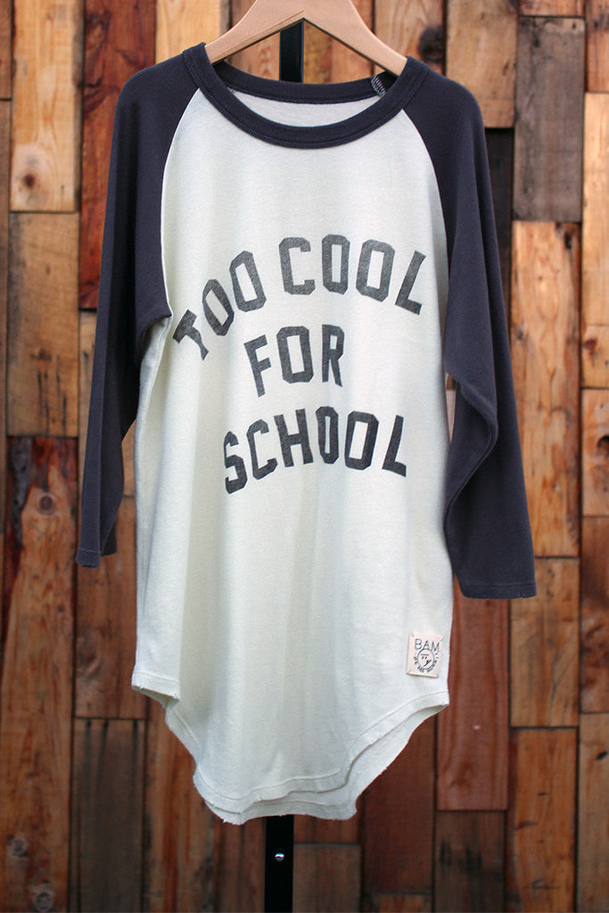 Too Cool Vintage Raglan Tee - Bam Kids