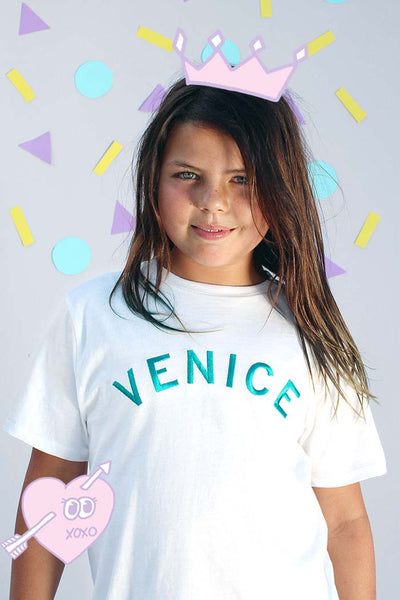 Venice Embroidery Tee | Boys - Bam Kids