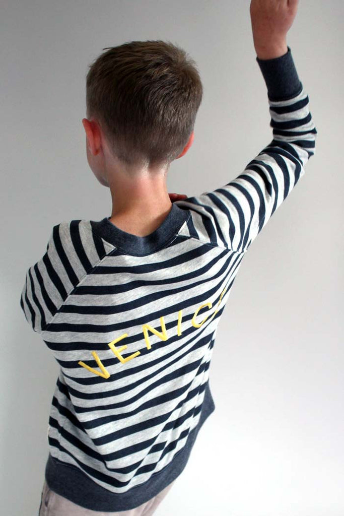 Venice Embroidery Sweatshirt - Bam Kids