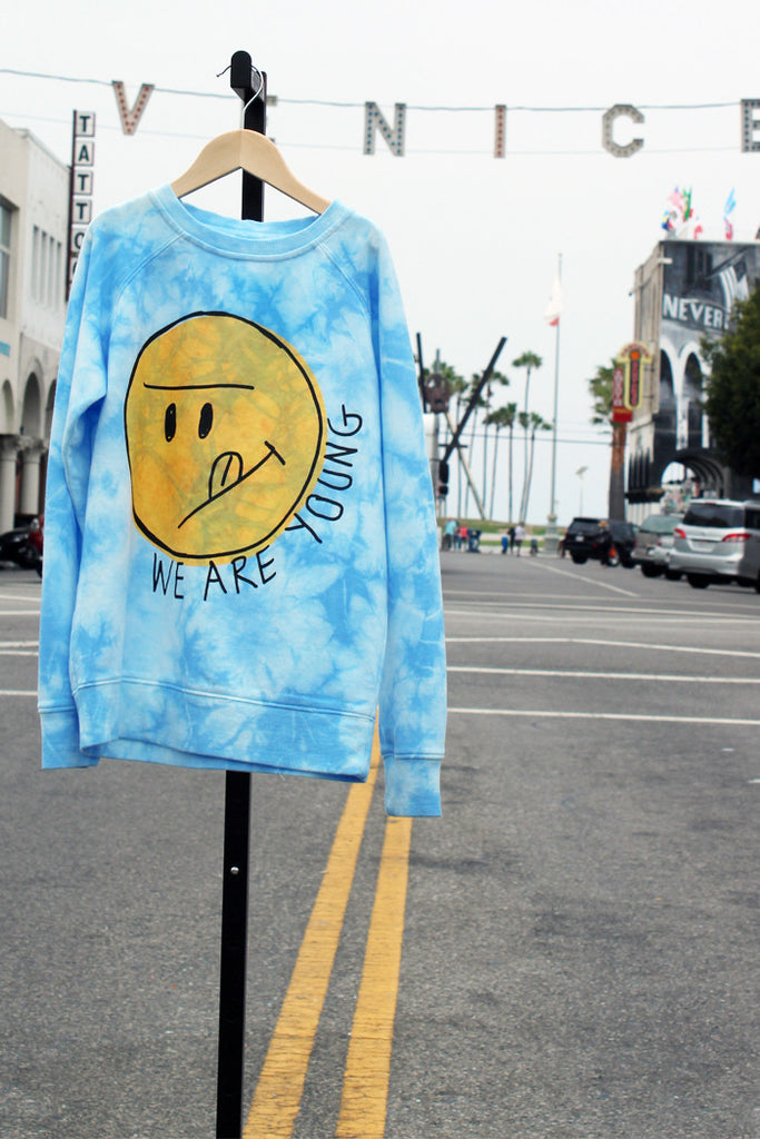 We Are Young Tie Dye Sweatshirt - Bam Kids