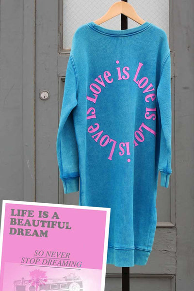 Love is Love is Love Sweat Dress - Bam Kids