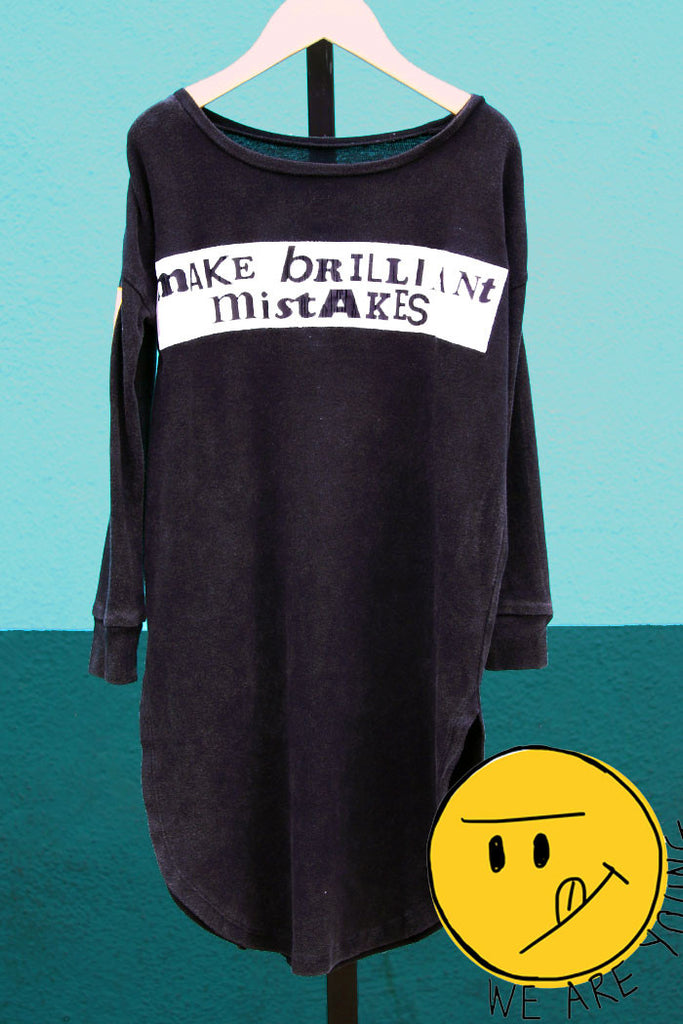 Make Brilliant Mistakes Tunic - Bam Kids