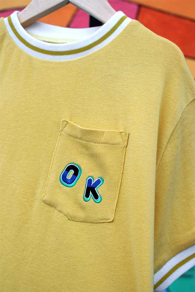 OK Athletic Vintage Ringer Tee - Bam Kids