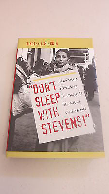 Don't Sleep with Stevens by Timothy J Minchin, SIGNED, 1st, Civil Rights, J P JP