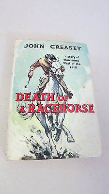 Death of a Racehorse by John Creasey, 1st Ed, HC DJ, 1959, Roger West