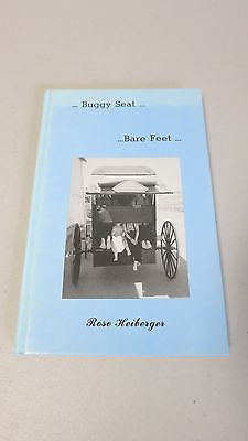 Buggy Seat, Bare Feet by Rose Heiberger, SIGNED, Amish People, Pennsylvania