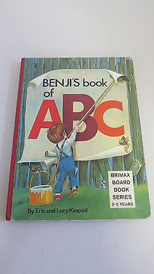 Benji's Book of ABC by Lucy and Eric Kincaid, 1977, Large Board Book