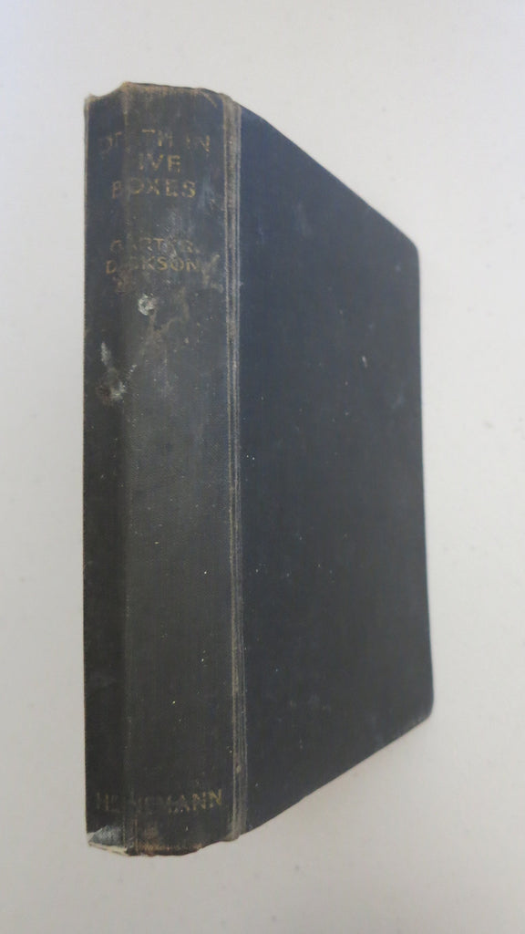 Death in Five Boxes by Carter Dickson, 1st Ed, 1938, J D Carr, JD
