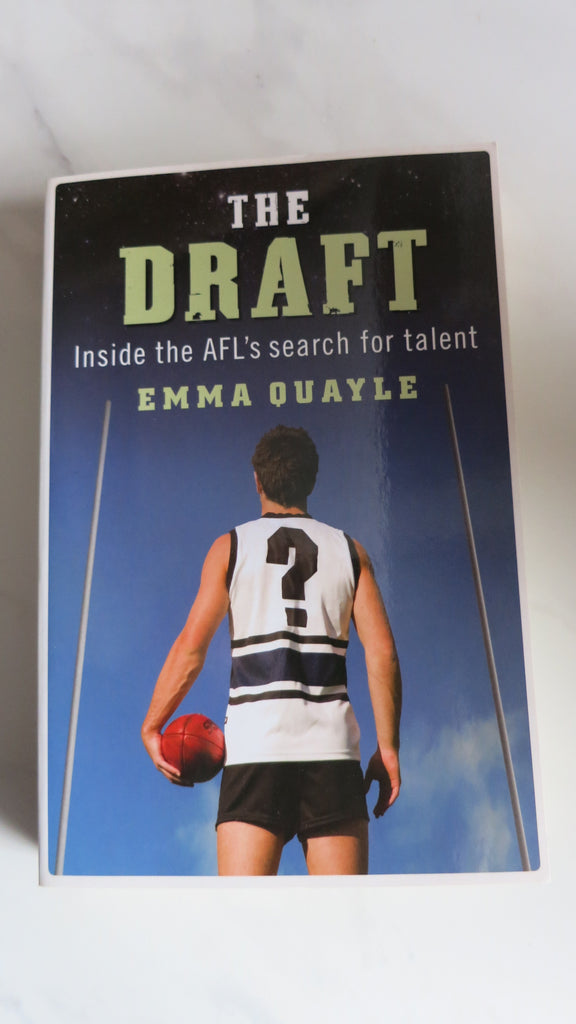 The Draft by Emma Quayle, Large Paperback, 1st Ed, Cyril Rioli, Trent Cotchin, AFL Footy
