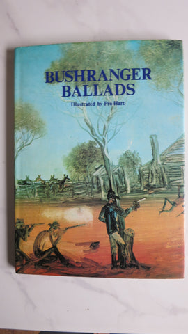 Bushranger Ballads, Illustrated by Pro Hart, 1st Ed, Large HC DJ, Edited by Bill Scott