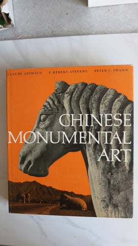 Chinese Monumental Art by Claude Arthaud, 1st ed, Large HC DJ, Mai-Chi-Shan Cave Temples