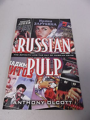 Russian Pulp by Anthony Olcott, 1st Ed, Large Paperback, Crime Fiction, Detektiv
