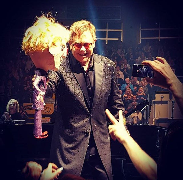 Sir Elton John with his custom pinata