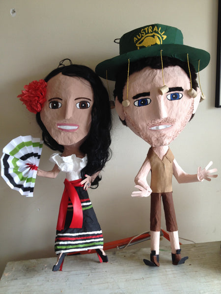 Bride and Groom Pinatas
