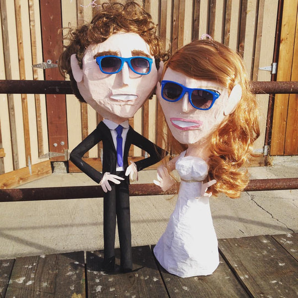 custom wedding pinata bride and groom