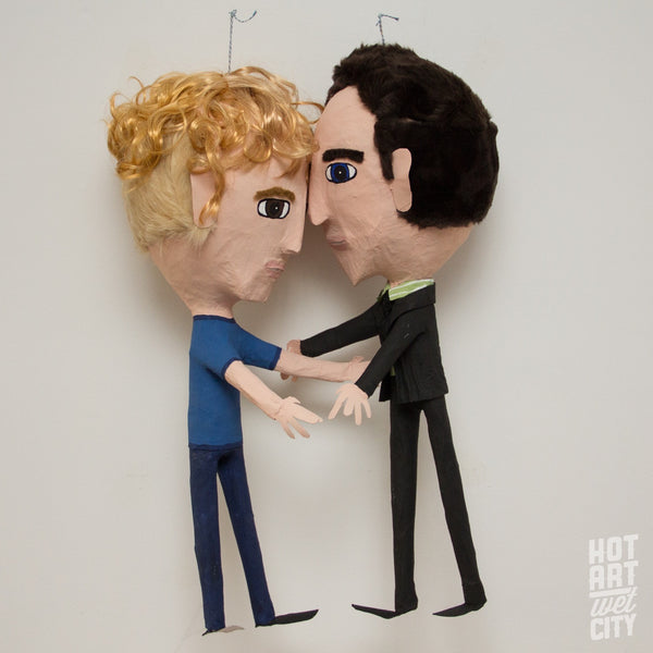 custom wedding pinata two grooms
