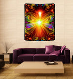 "Psychedelic Tapestry, Reiki Healing, Chakra Art, Unique Decor, Meditation Art,  ""Light Being"""