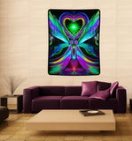 "Reiki Energy Healing, Chakra Wall Decor, Meditation Room Art ""Unconditional Love"""