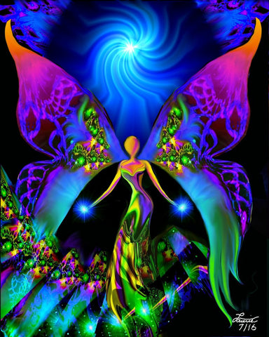 "Spiritual Healing Angel Art Reiki Energy ""Breaking Free"""