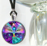 "Reiki Healing Jewelry, Angel Art, Chakra Balancing Necklace, ""Bubbles of Clearing"""