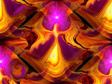 "Psychedelic Art, Chakra Balancing, Digital Painting, Reiki Healing, Angel Art Print, ""Angel Fire"""