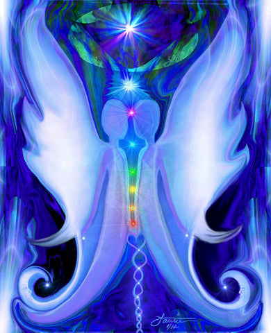 Twin Souls, Energy Art, Reiki Wall Art