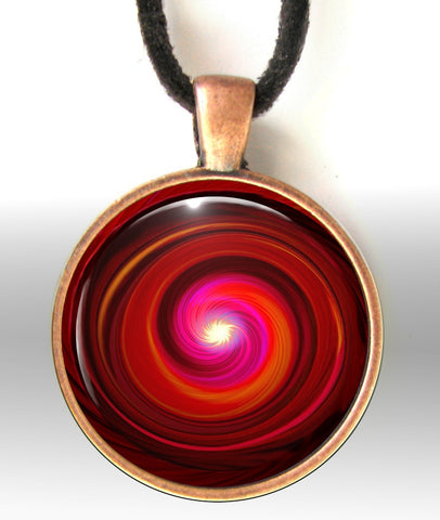 Red Necklace Chakra Swirl Reiki Jewelry